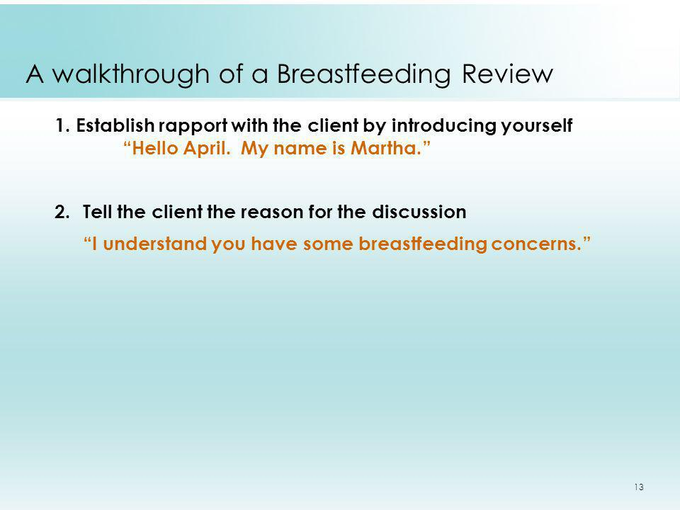 A walkthrough of a Breastfeeding Review