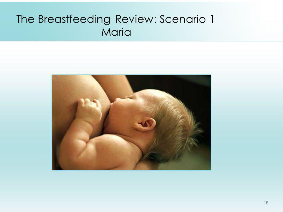 The Breastfeeding Review: Scenario 1 Maria