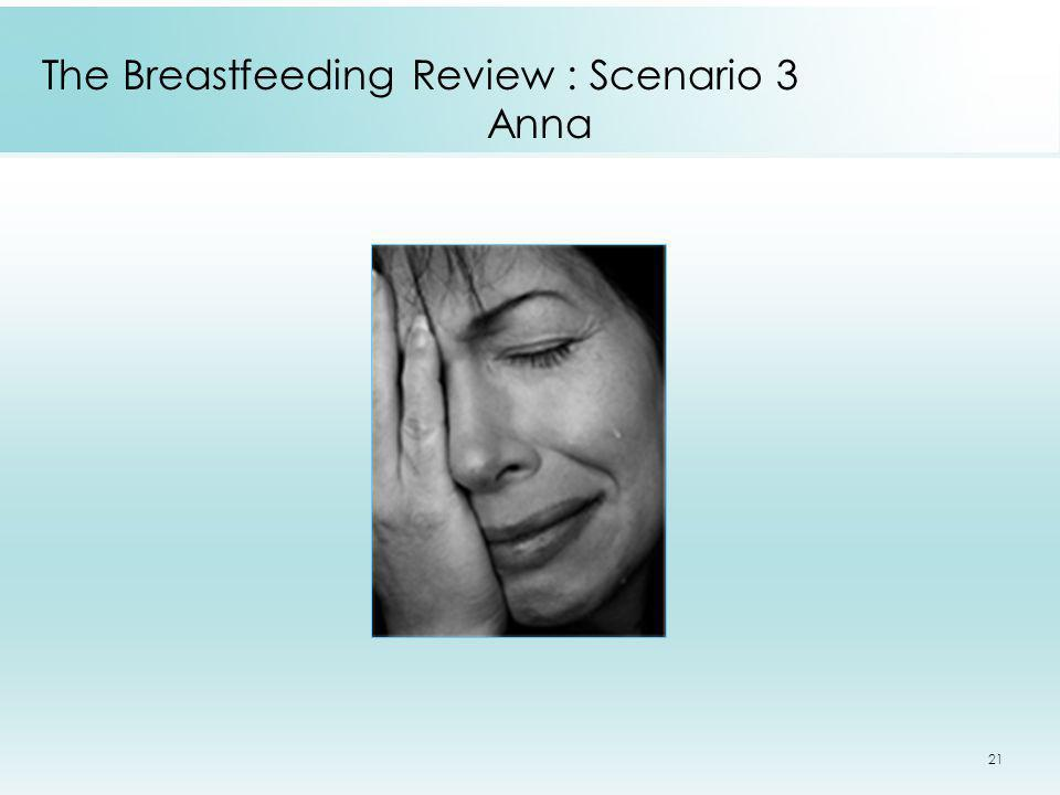 The Breastfeeding Review : Scenario 3 Anna