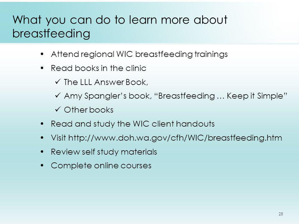 What you can do to learn more about breastfeeding