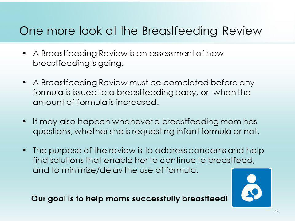 One more look at the Breastfeeding Review