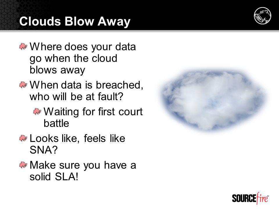 Clouds Blow Away Where does your data go when the cloud blows away