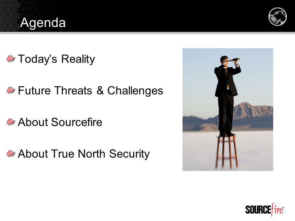 Agenda Today's Reality Future Threats & Challenges About Sourcefire