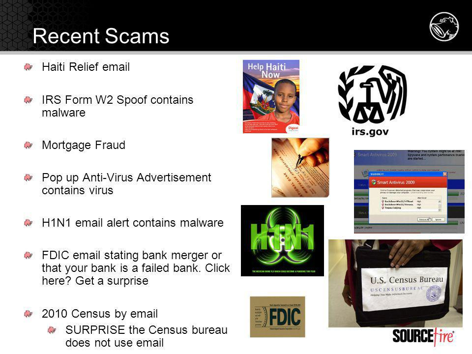 Recent Scams Haiti Relief email IRS Form W2 Spoof contains malware