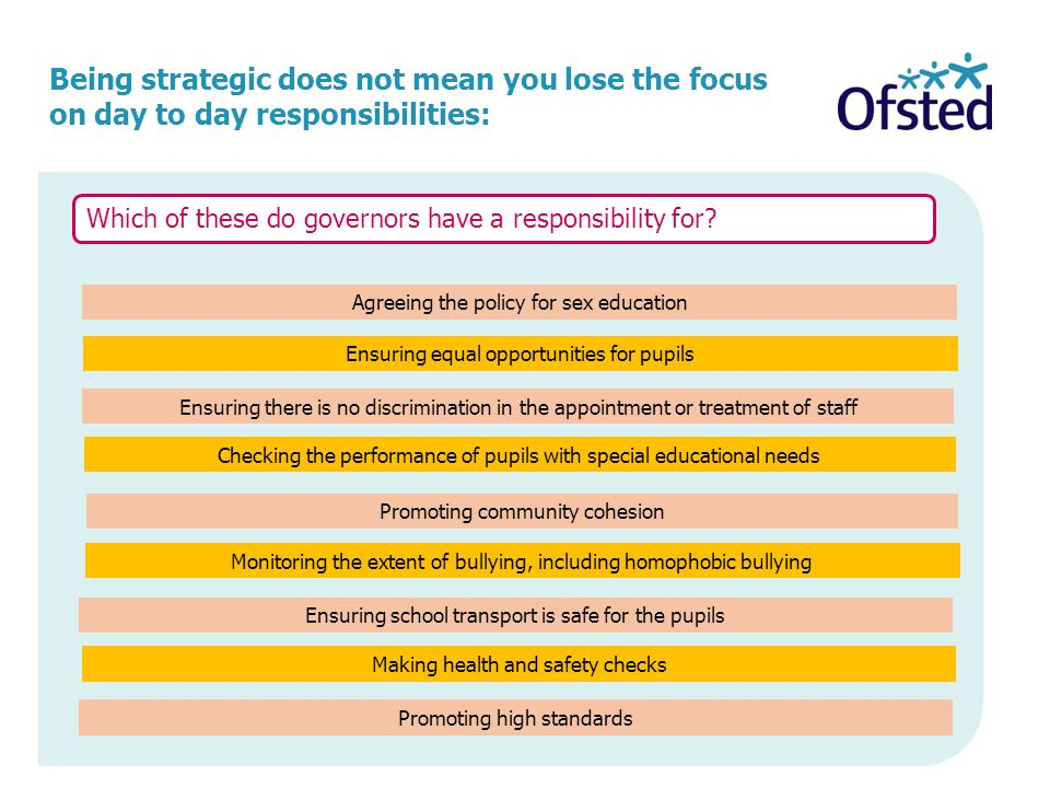 Being strategic does not mean you lose the focus on day to day responsibilities: