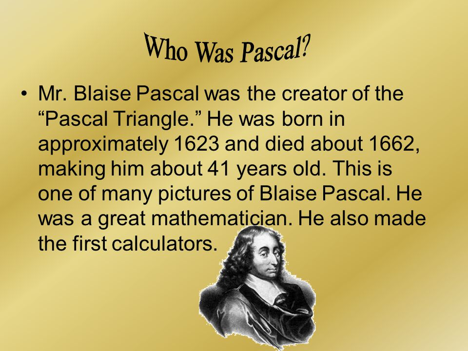 Who Was Pascal
