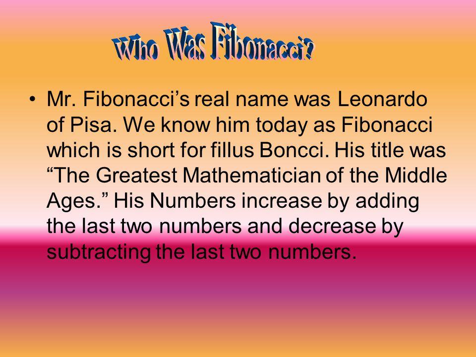 Who Was Fibonacci