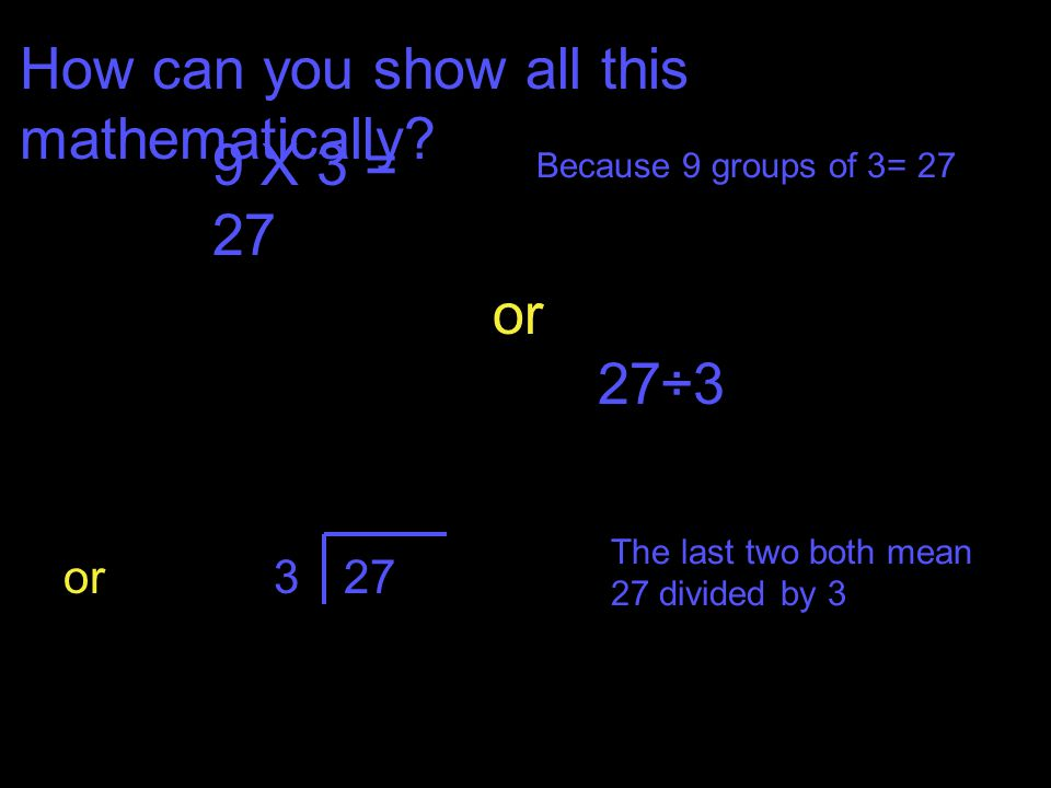 How can you show all this mathematically