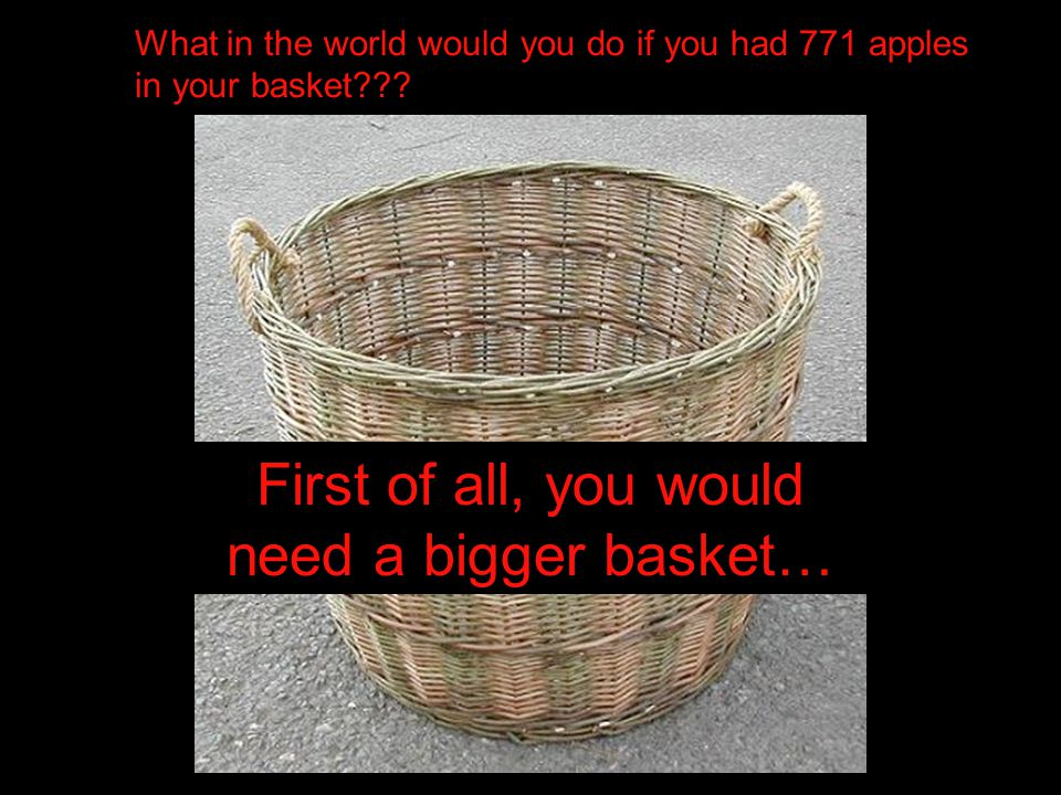 First of all, you would need a bigger basket…