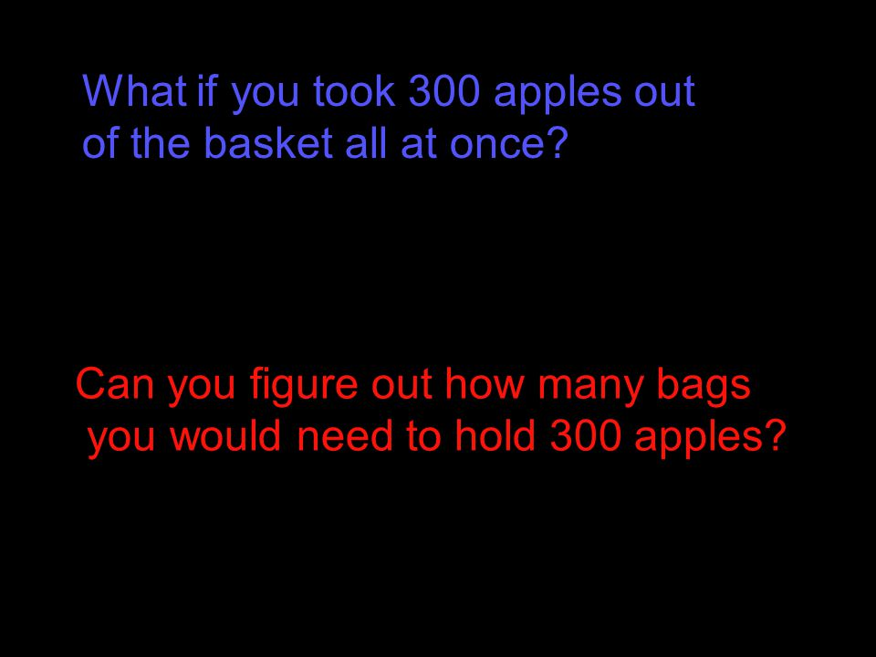 What if you took 300 apples out