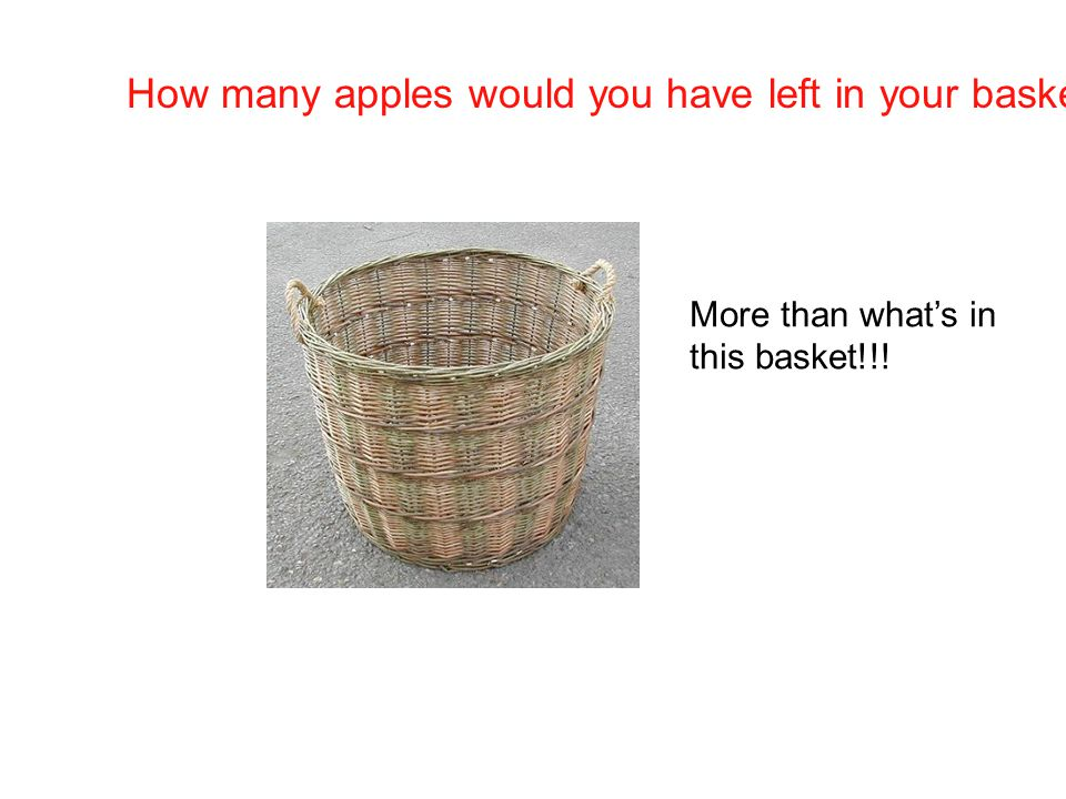 How many apples would you have left in your basket