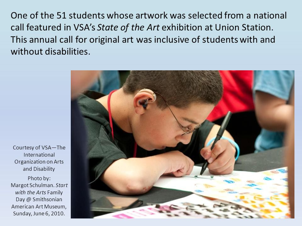 Courtesy of VSA—The International Organization on Arts and Disability