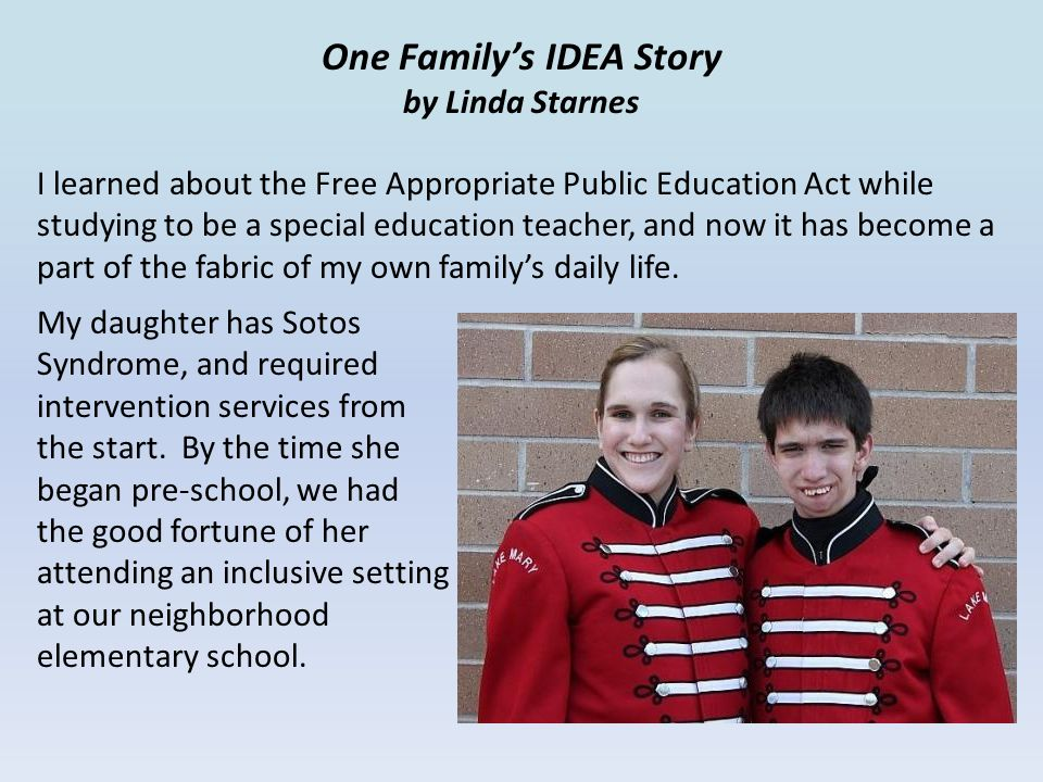 One Family's IDEA Story by Linda Starnes