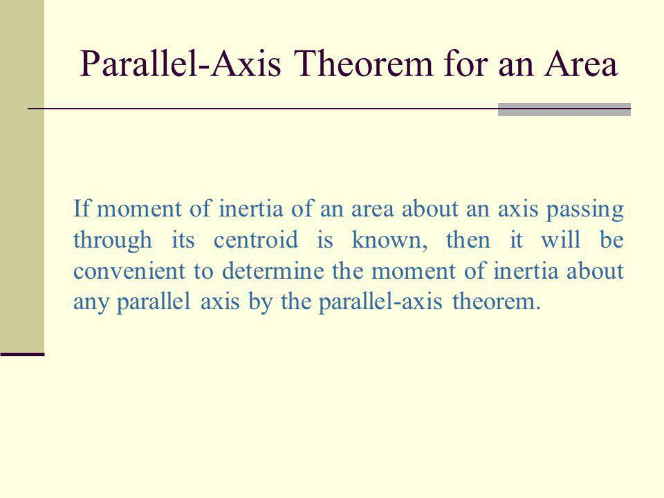 Parallel-Axis Theorem for an Area