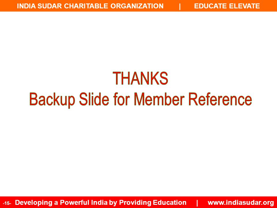 Backup Slide for Member Reference