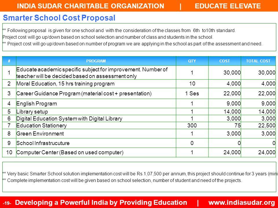 Smarter School Cost Proposal