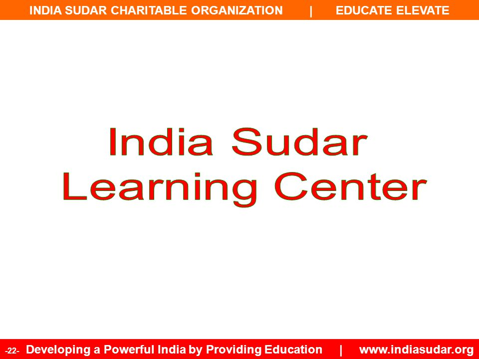 India Sudar Learning Center 22