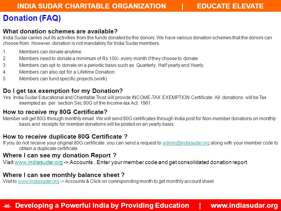Donation (FAQ) What donation schemes are available