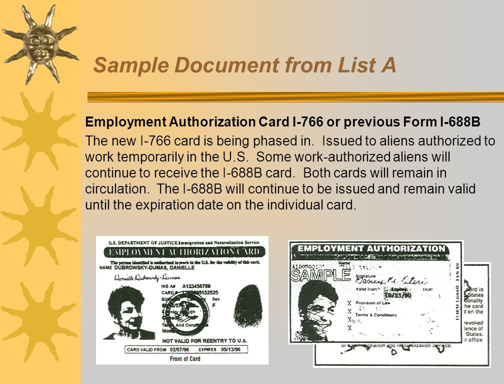 Employment Eligibility Verification I-9 Form - Ppt Download