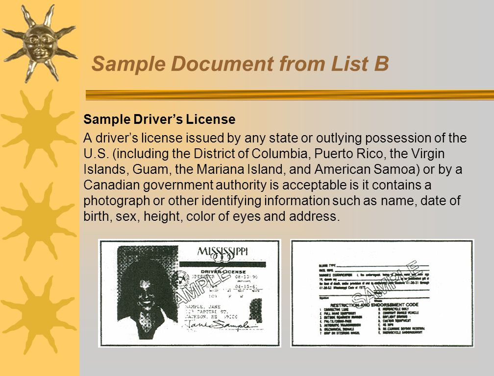 Sample Document from List B