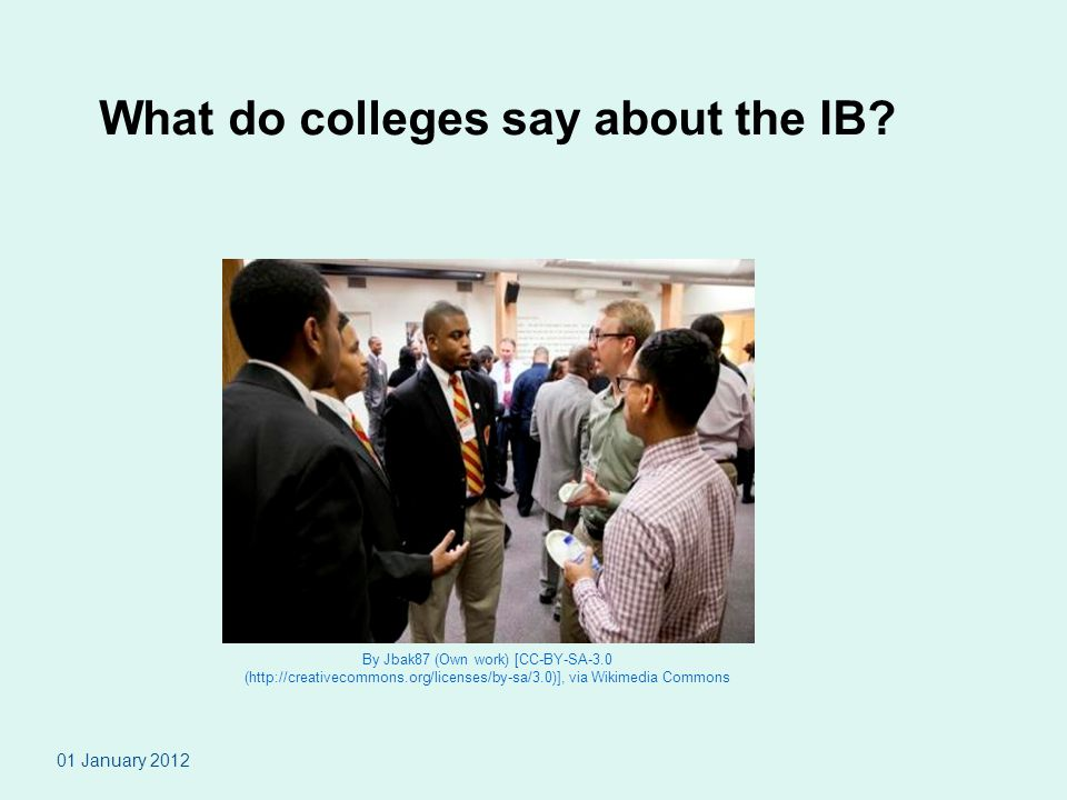 What do colleges say about the IB