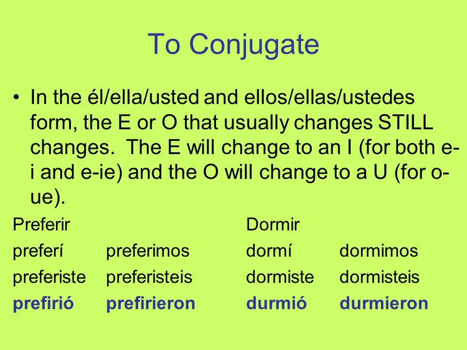 To Conjugate