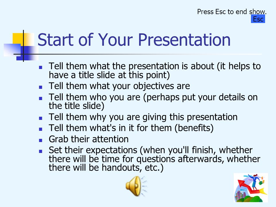 Start of Your Presentation