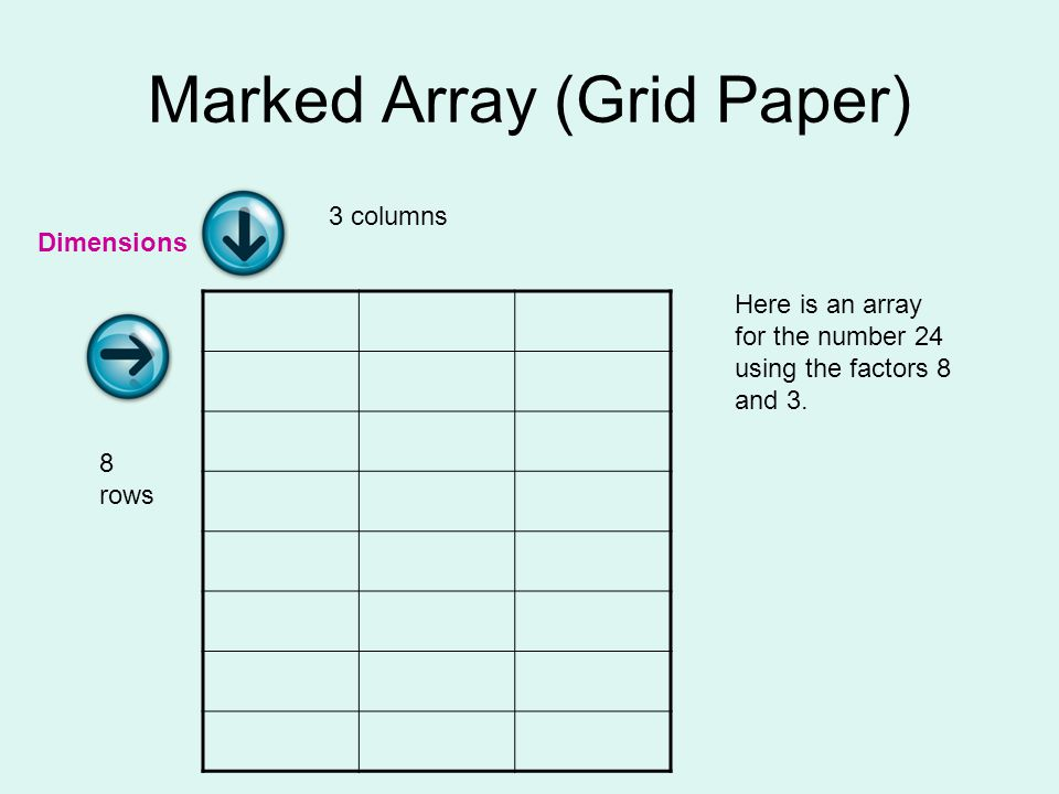 Marked Array (Grid Paper)