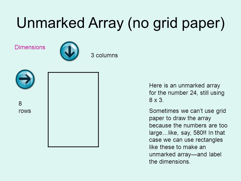 Unmarked Array (no grid paper)