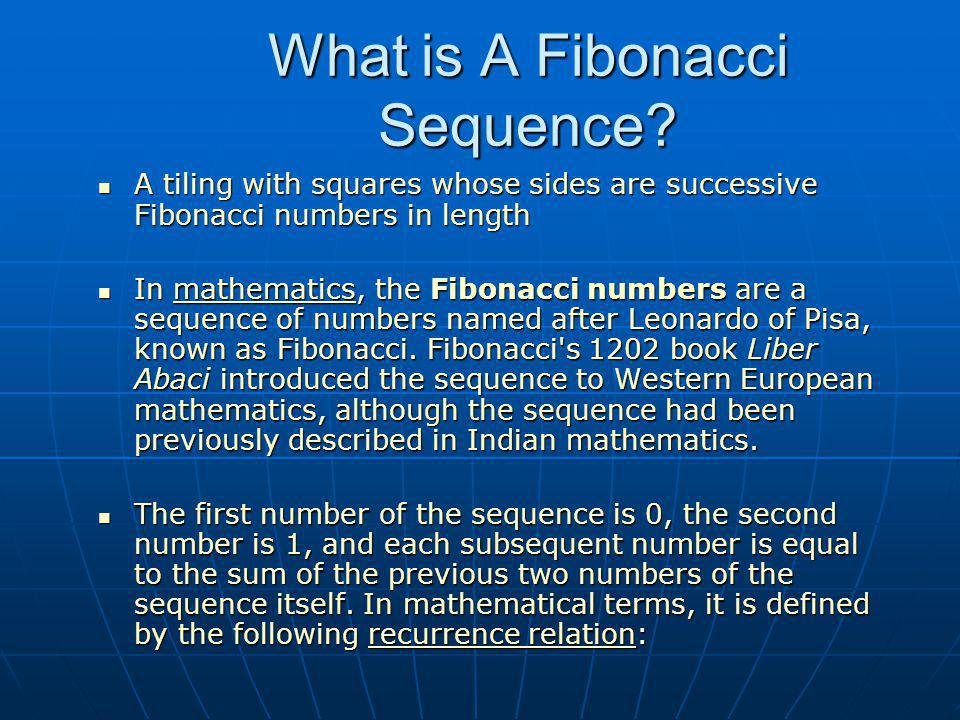 What is A Fibonacci Sequence