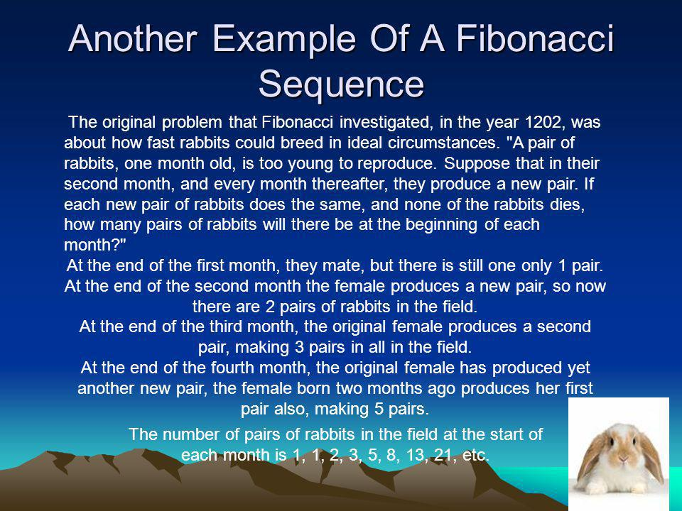 Another Example Of A Fibonacci Sequence