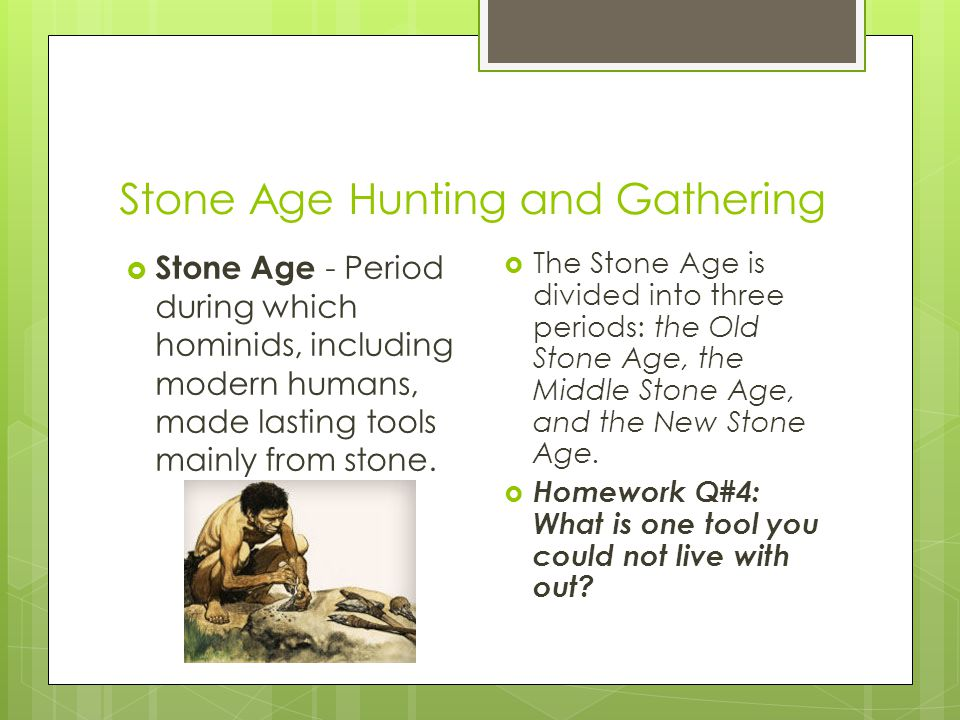 Stone Age Hunting and Gathering