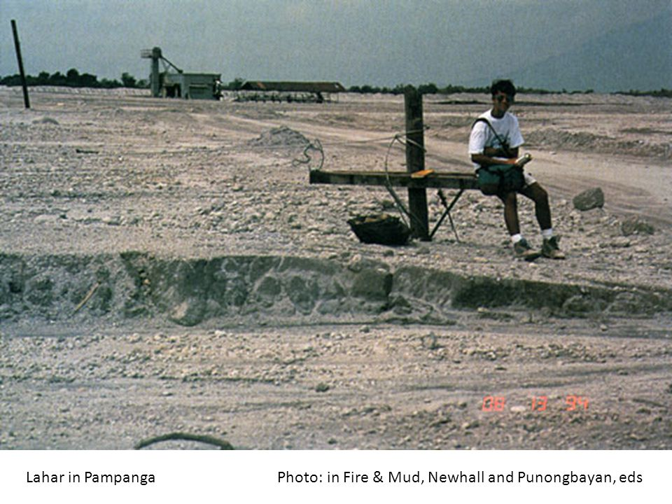 Lahar in Pampanga Photo: in Fire & Mud, Newhall and Punongbayan, eds