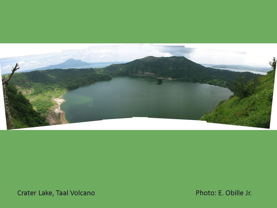 Crater Lake, Taal Volcano Photo: E. Obille Jr.