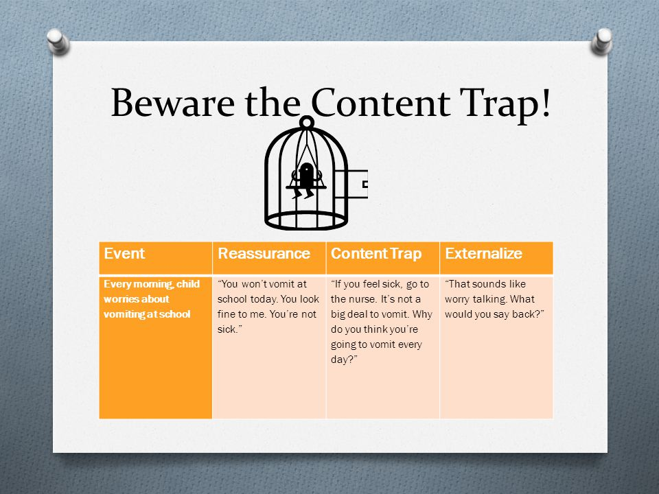 Beware the Content Trap!