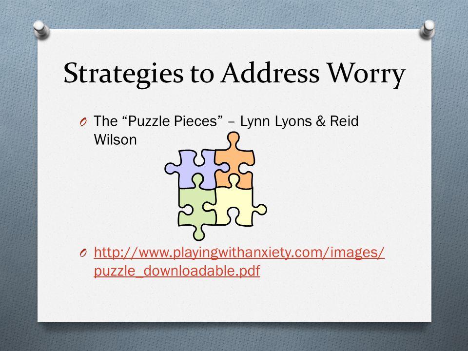 Strategies to Address Worry