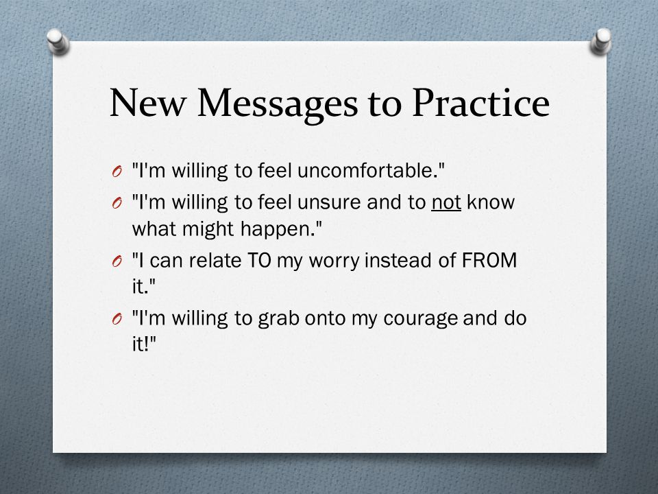 New Messages to Practice
