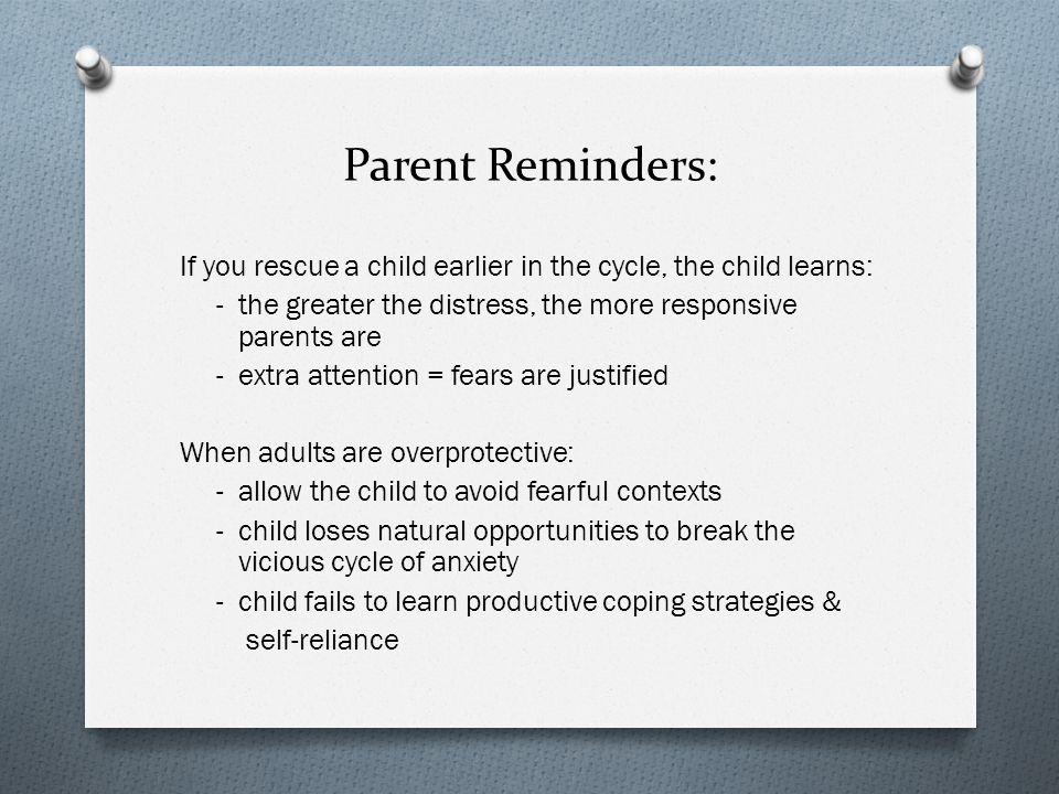 Parent Reminders: