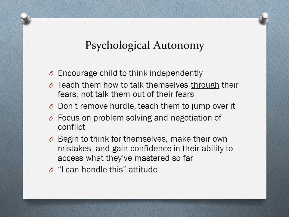 Psychological Autonomy
