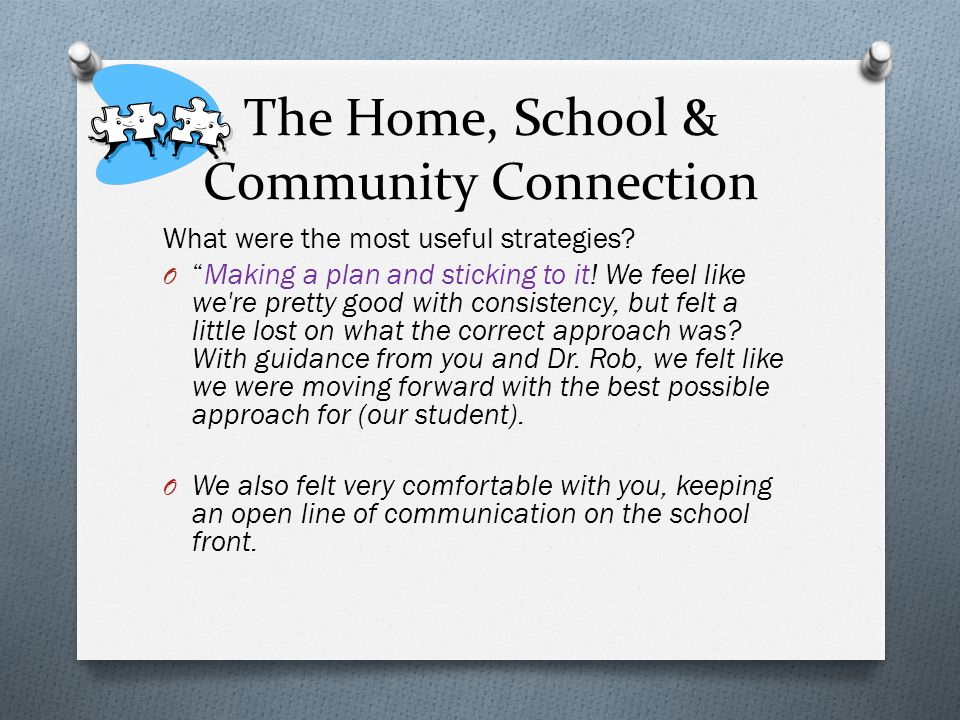 The Home, School & Community Connection
