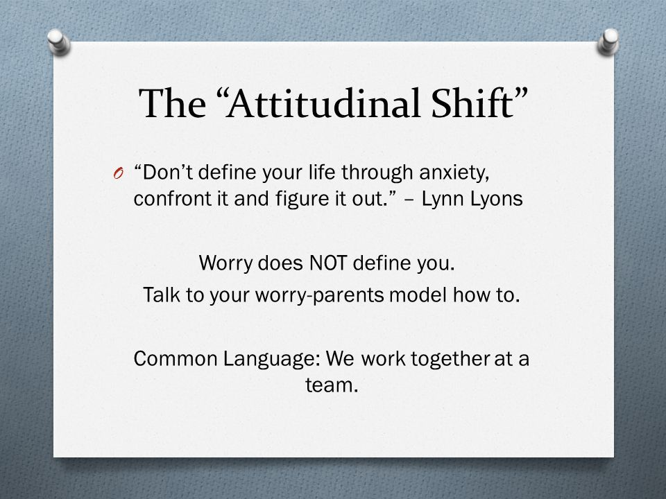 The Attitudinal Shift