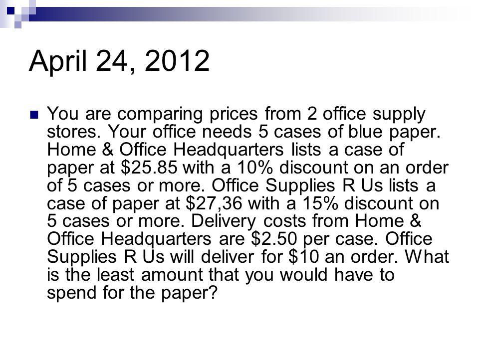 April 24, 2012