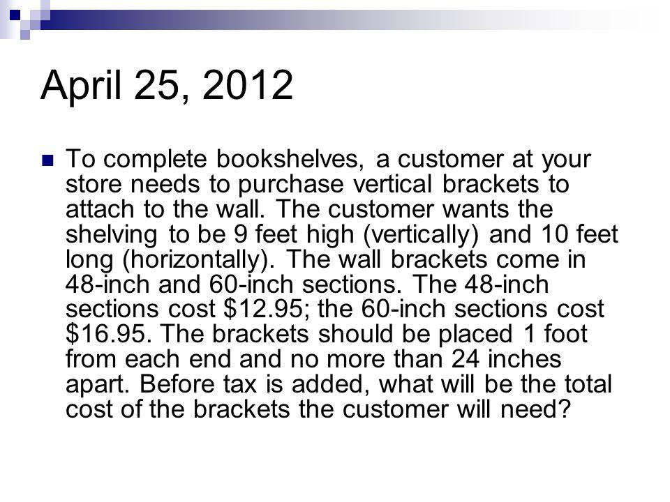 April 25, 2012