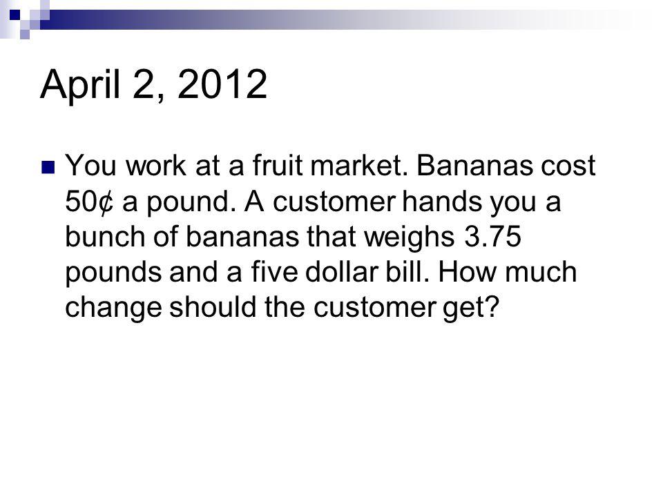 April 2, 2012