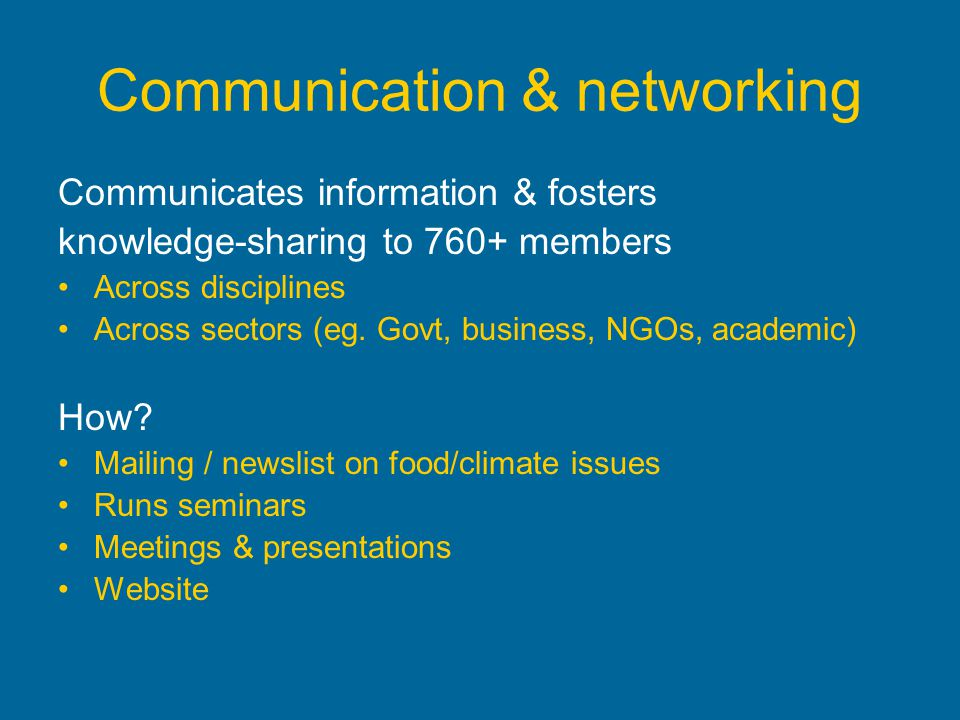 Communication & networking