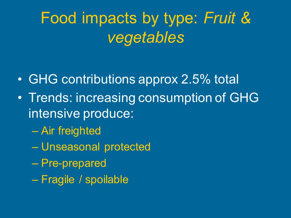 Food impacts by type: Fruit & vegetables