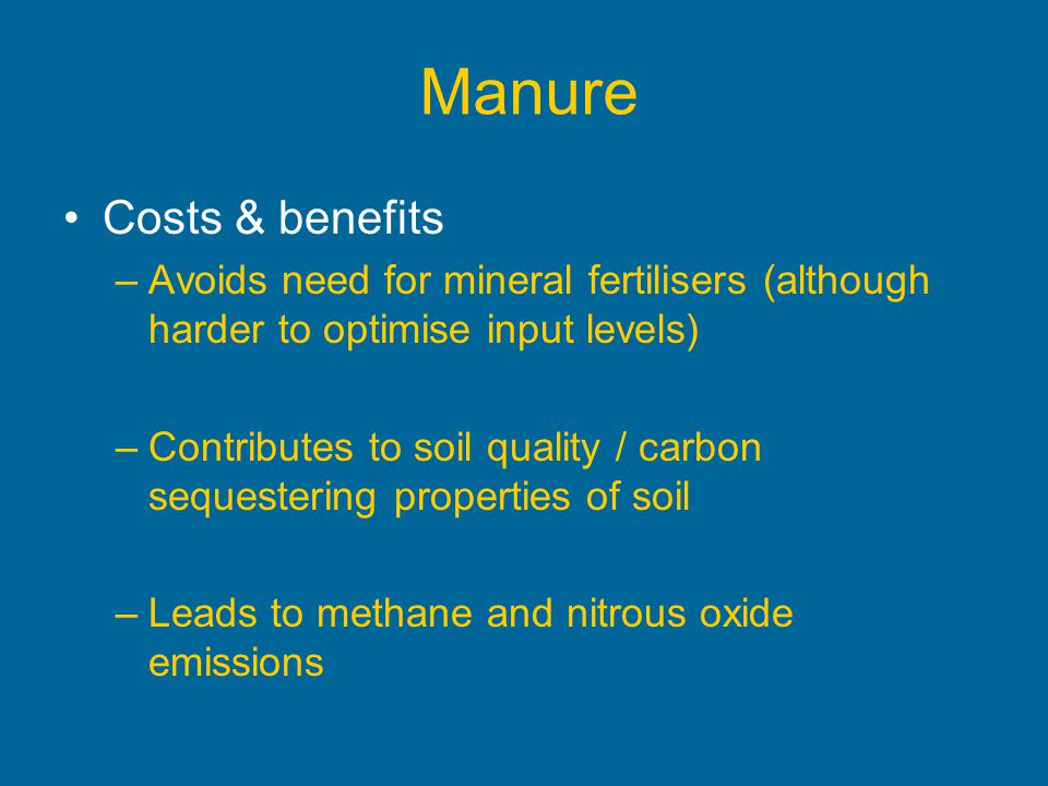 Manure Costs & benefits