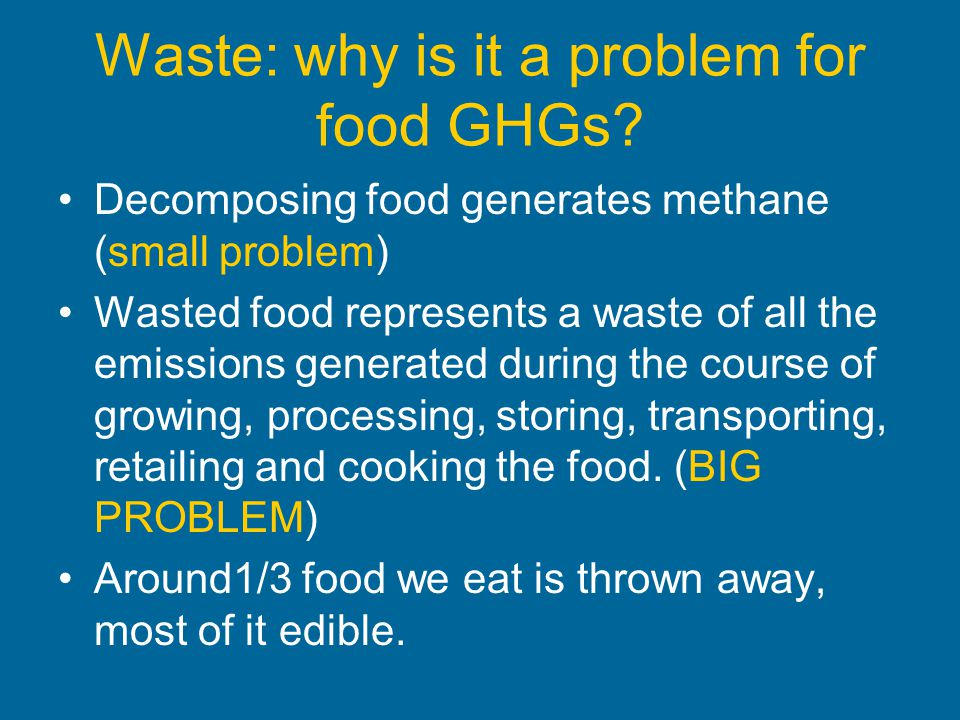 Waste: why is it a problem for food GHGs