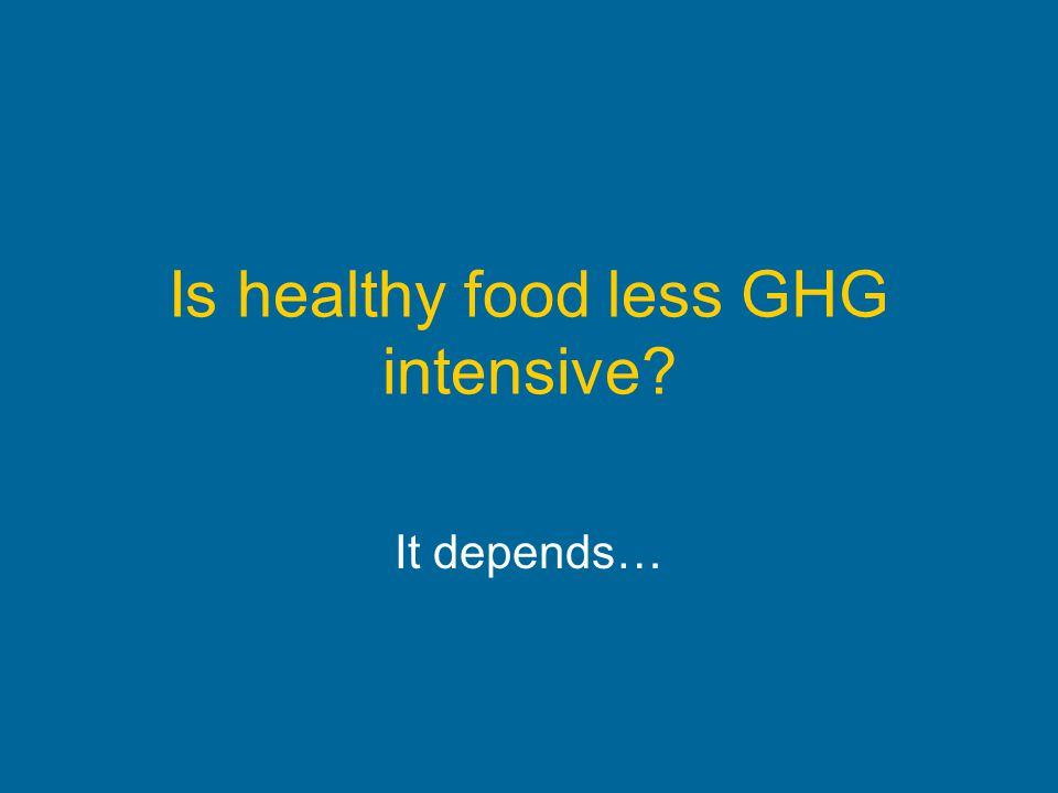 Is healthy food less GHG intensive