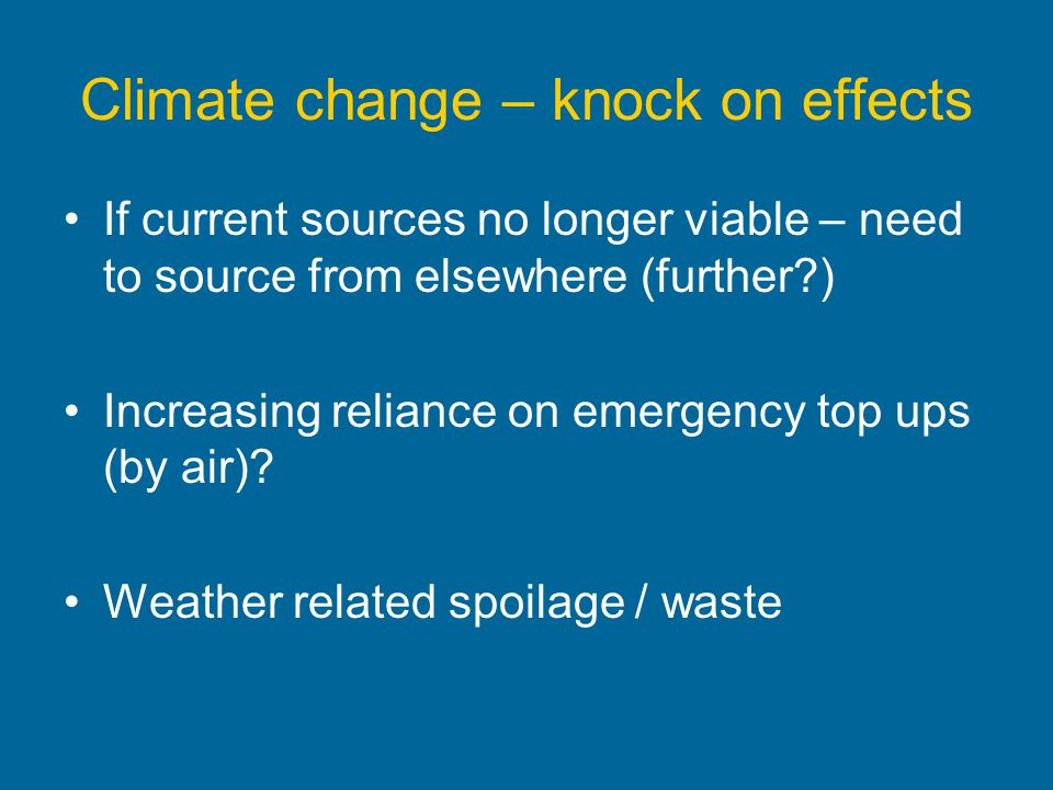 Climate change – knock on effects
